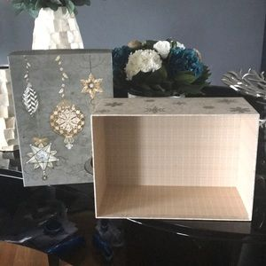 NWT Punch Studio Holiday Storage Box